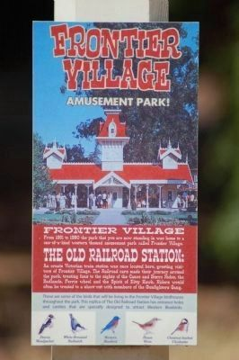 The Old Railroad Station Marker image. Click for full size.