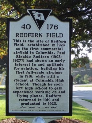 Redfern Field / Paul R. Redfern Marker image. Click for full size.