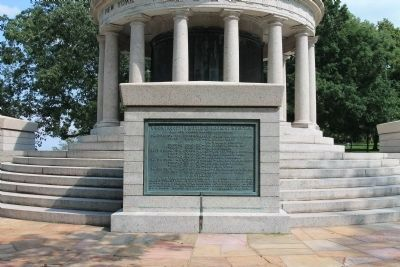 New York Peace Monument Marker Photo, Click for full size