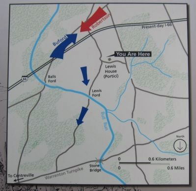 Map of the Cavalry Action Photo, Click for full size