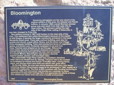 Bloomington Marker image. Click for full size.