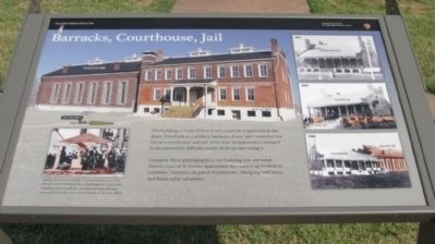 Barracks, Courthouse, Jail Marker image. Click for full size.
