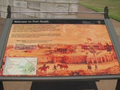 Welcome to Fort Smith Marker image. Click for full size.