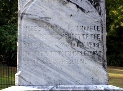 More Enduring Than Marble Marker -- East Face image. Click for full size.