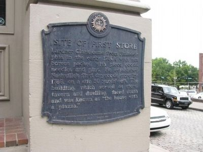 Site of First Store Marker image. Click for full size.