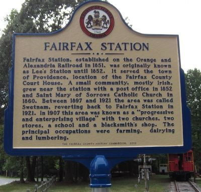 Fairfax Station Marker Photo, Click for full size