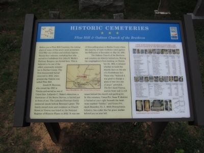 Historic Cemeteries Marker Photo, Click for full size
