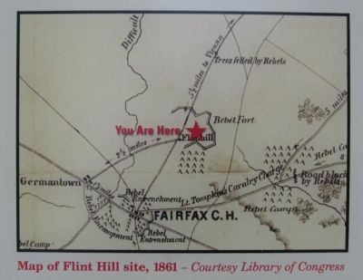 Wartime Map of the Fort Photo, Click for full size