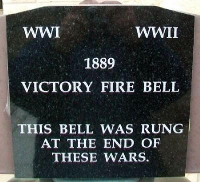Victory Fire Bell Marker image. Click for full size.