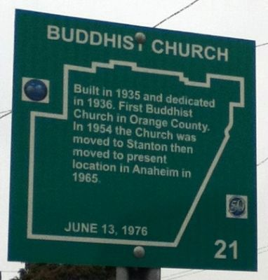 Buddhist Church Marker image. Click for full size.