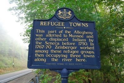 Refugee Towns Marker image. Click for full size.