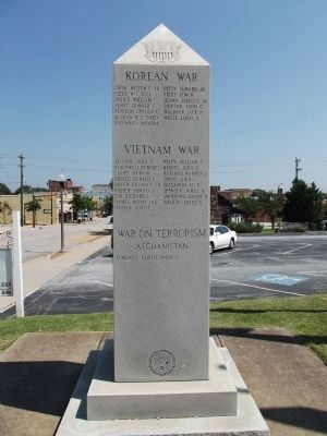 Cherokee County Veterans Monument Marker image. Click for full size.