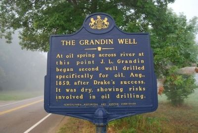 The Grandin Well Marker Photo, Click for full size