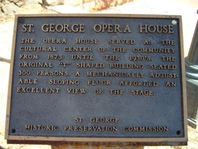 St. George Opera House Marker Photo, Click for full size