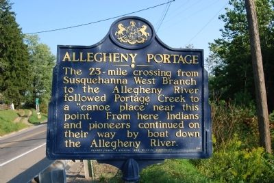 Allegheny Portage Marker Photo, Click for full size