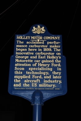 Holley Motor Company Marker Photo, Click for full size