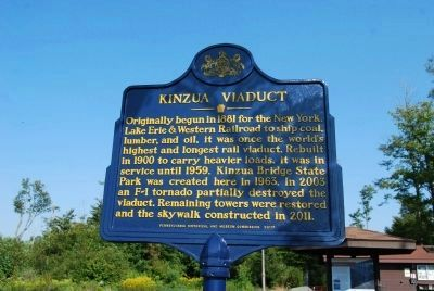 Kinzua Viaduct (Rededicated) Marker image. Click for full size.