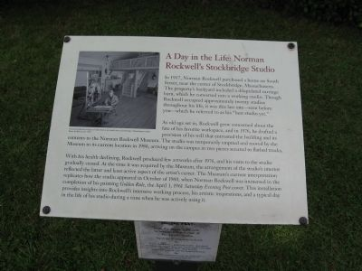 A Day In The Life: Norman Rockwell�s Stockbridge Studio Marker Photo, Click for full size