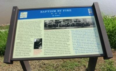Baptism By Fire Marker image. Click for full size.