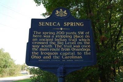Seneca Spring Marker Photo, Click for full size