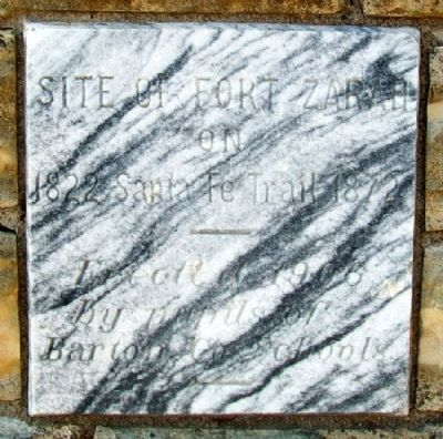 Site of Fort Zarah Marker Photo, Click for full size
