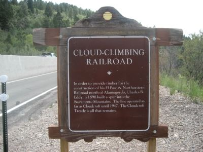 Cloud-Climbing Railroad Marker image. Click for full size.