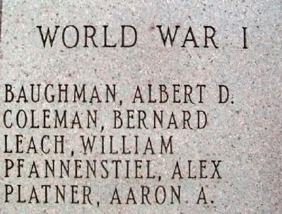 War Memorial Honored Dead Photo, Click for full size