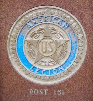 War Memorial American Legion Emblem Photo, Click for full size