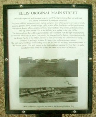 Ellis' Original Main Street Marker image. Click for full size.