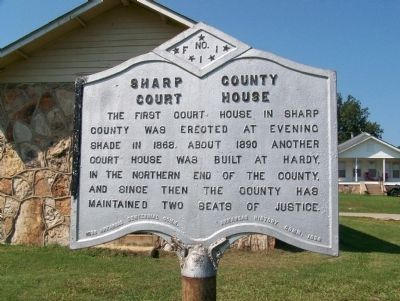Sharp County, AR Court House No. 1 Marker image. Click for full size.