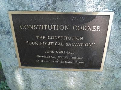 Constitution Corner Marker image. Click for full size.
