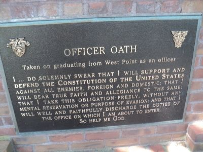 Marker 4 - Officer Oath image. Click for full size.