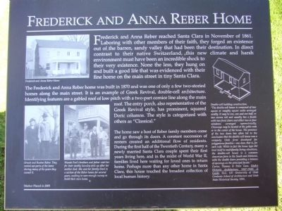 Frederick and Anna Reber Home Marker image. Click for full size.