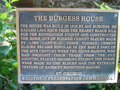 The Burgess House Marker Photo, Click for full size