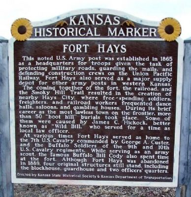 Fort Hays Marker Photo, Click for full size