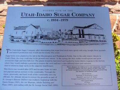 Utah-Idaho Sugar Company Marker Photo, Click for full size