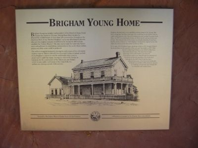 Brigham Young Home Marker image. Click for full size.