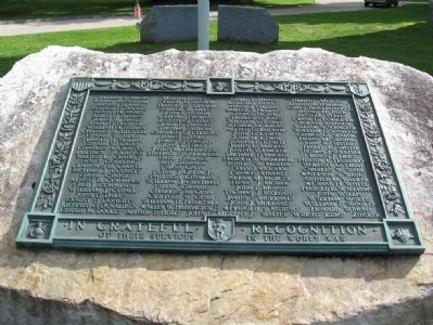 Stockbridge World War I Monument Photo, Click for full size