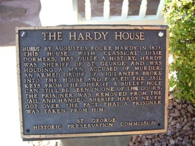 The Hardy House Marker image. Click for full size.