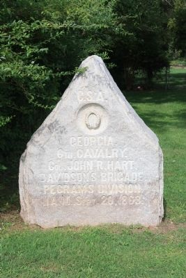 6th Georgia Cavalry Marker Photo, Click for full size
