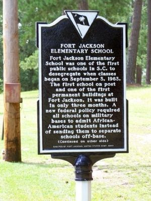 Fort Jackson Elementary School Marker image. Click for full size.