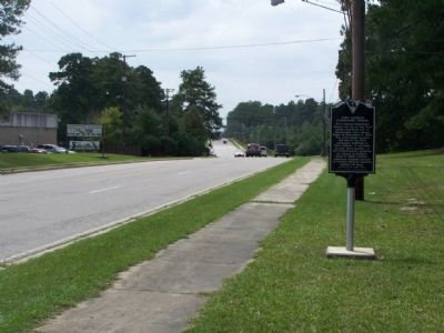 Fort Jackson Elementary School Marker, looking south along Lee Street image. Click for full size.