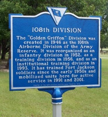 108th Division Marker Photo, Click for full size