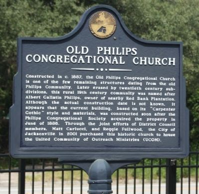 Old Philips Congregational Church Marker image. Click for full size.