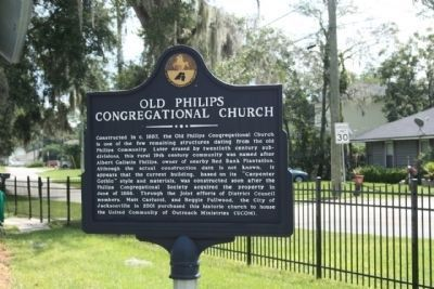 Old Philips Congregational Church Marker, image. Click for full size.