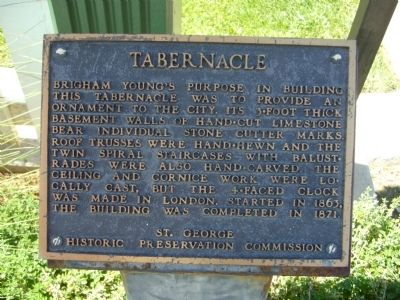 Tabernacle Marker Photo, Click for full size