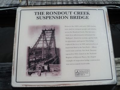 The Rondout Creek Suspension Bridge Marker image. Click for full size.