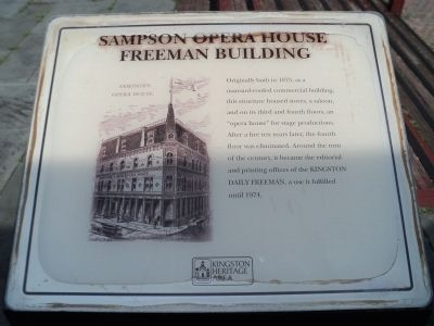 Sampson Opera House Marker Photo, Click for full size