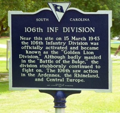 106th Inf Division Marker image. Click for full size.