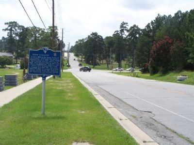 102nd Cavalry Marker, looking south along Jackson Blvd. image. Click for full size.